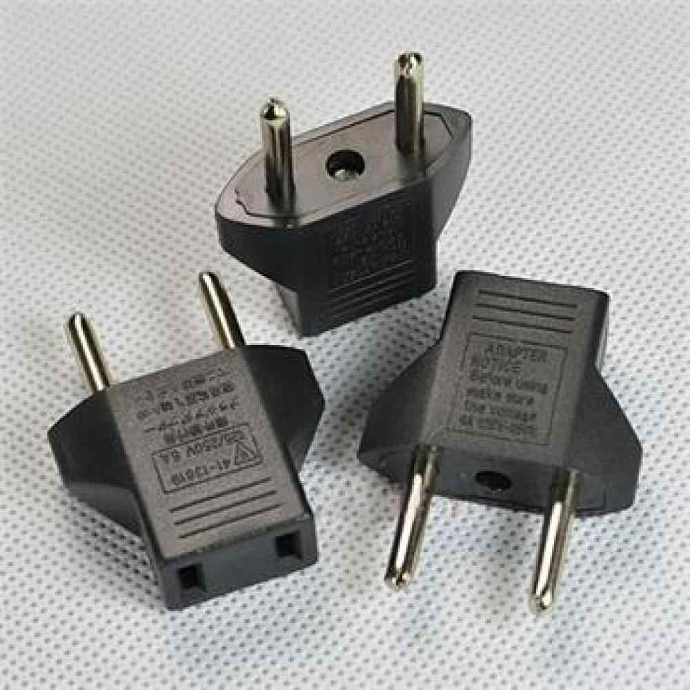 2 Pcs/set Universal Amerika Serikat untuk Uni Eropa AC Power Dinding Plug Converter Perjalanan Adaptor Uni Eropa Plug Converter 2 Round Socket masukan Pin