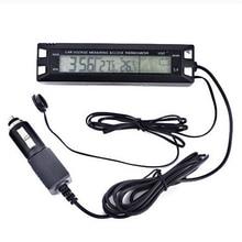 Discount! Digital Outdoor Temperature Sensor for Car Automatic Temperature Sensor Thermometer Car Clock Volt Monitor LCD