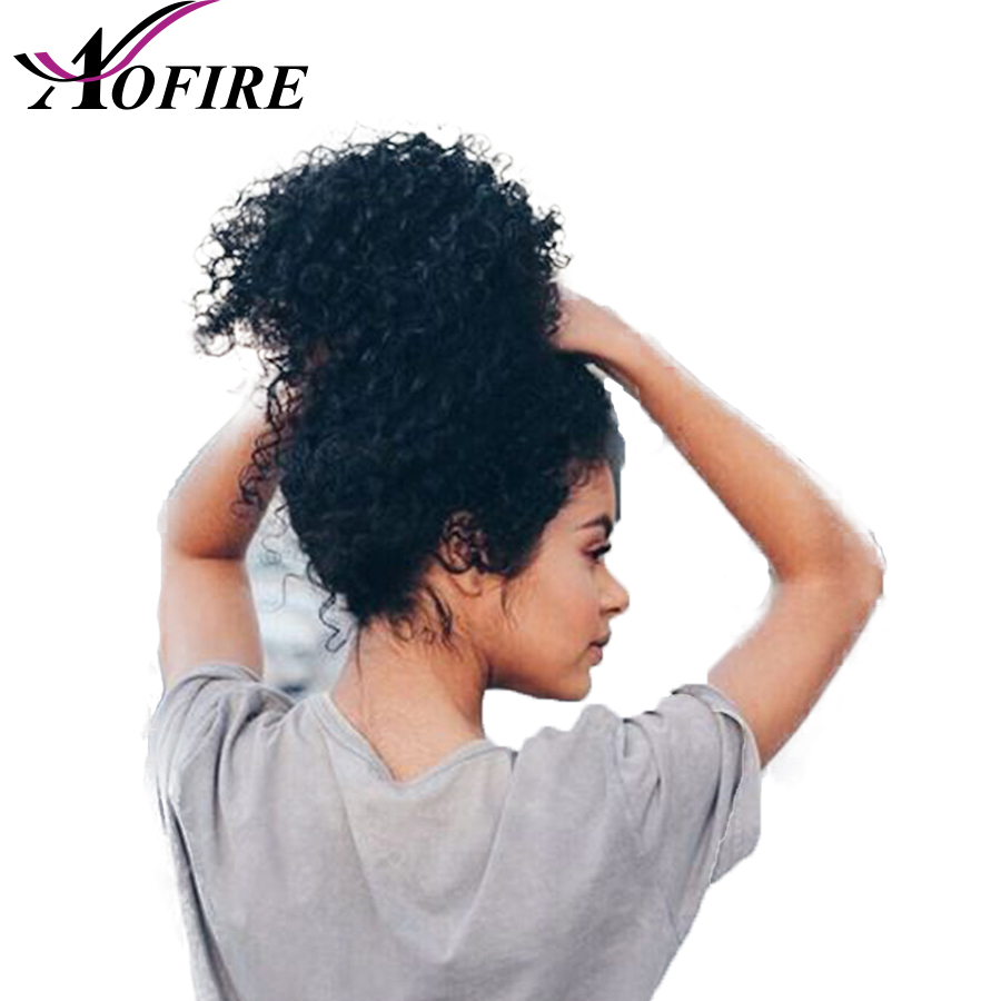 Kinky Curly Malaysia Remy Hair Full Lace Human Hair Wigs For Black Women Bleached Knots Pre