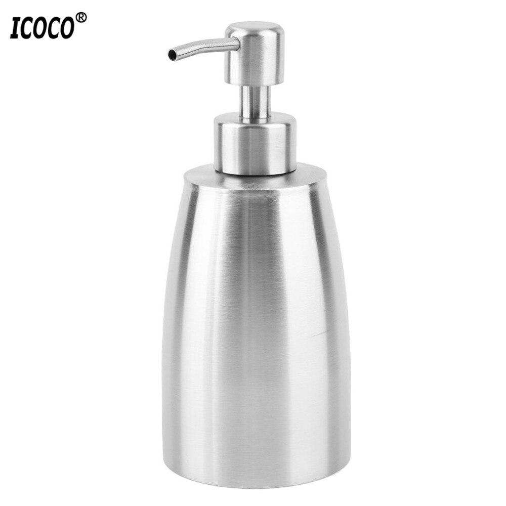 ICOCO Edelstahl flüssigseifenspender Pumpe Seife hand Seifenspender Hand waschen Sanitizer Flasche für Badezimmer küche