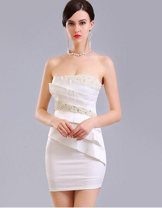 Vestidos Strapless Blancos