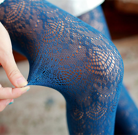 2016 new Spring autumn Women Tight lace Pantyhose Cute Girl 10 colors cheap thin female pantyhoses