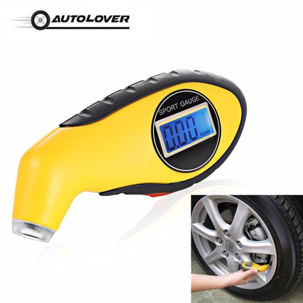 Calibro Auto del Tester strumento di Diagnostica per la Sicurezza di Guida pneumatico manometro Misuratore Manometro Barometri Tester Digital LCD Tyre