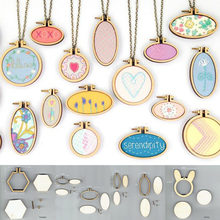 Ring Sewing Embroidery Frame DIY Crafts Tool 15 Types Bag Clothes Earring Jewelry Pendant Cross Stitch Art Works(China)