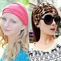 100% Cotton Wide Elastic Turban Headband Leopard Headbands for Women Headwear Variety of Wear Method Girls Hair Accessories