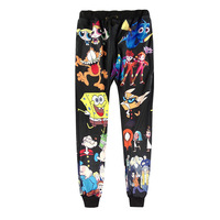 Fashion Funny Sweatpants 3D Print Emoji Face Coffee Cat Graphic Jogger Pants Men Women Casual Harem