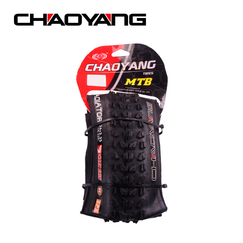 CHAOYANG Folding Bicycle Tire 26*2.35 Anti Puncture Mountain Bike Outer Tire High Quality Rubber MTB Bicycle Wheel Tire 60TPI mountain bike four perlin disc hubs 32 holes high quality lightweight flexible rotation bicycle hubs bzh002