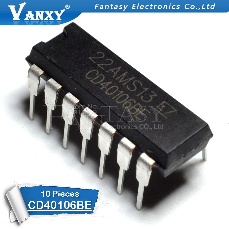 10PCS CD40106BE DIP14 CD40106 DIP 40106BE DIP-14 New And Original IC