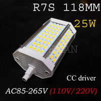 Реальная власть 25 Вт R7S 118 мм светодиодные лампы R7S Свет J118 r7s лампы без вентилятора заменить галогенные лампы AC110-240V теплые белый холодный бел...
