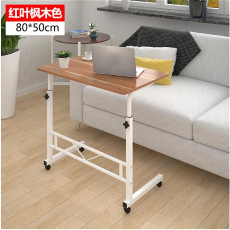80*50cm Adjustable Height Laptop Desk Portable Movable Mutil-purpose Notebook Computer desks 120 45cm portable bedside notebook table mutil purpose rremovable computer desk lazy laptop desk children study desk with wheels