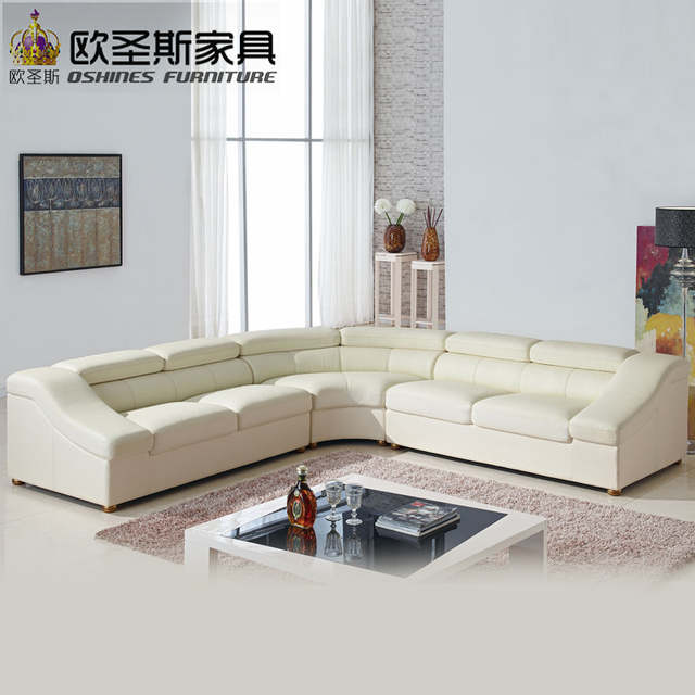 Online Shop Semi Circle Half Moon Leather Sofa Setmodern Furniture