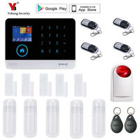 Yobang Security Wireless Wifi GSM Alarm System For Home Wireless Security Alarm System With Door Sensor