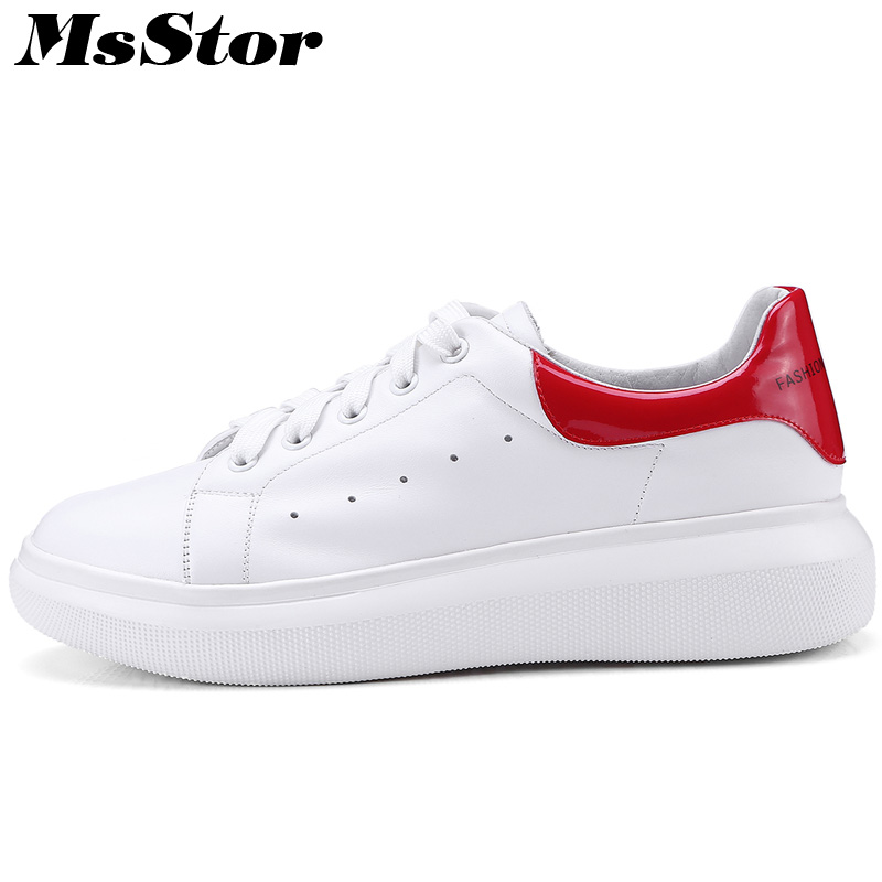 MsStor Round Toe Mixed Colors Women Flats Casual Fashion Cross Tied Ladies White Flat Shoes 2018 Spring Women Flats Brand Shoes лопасть vektor 4007