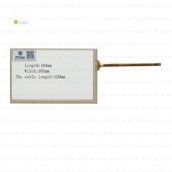 ZhiYuSun 7 Polegadas 164mm * 103mm Painel Digitador da tela de toque Resistiva 164*103 Para O CARRO DVD a comprimento do cabo de 120mm