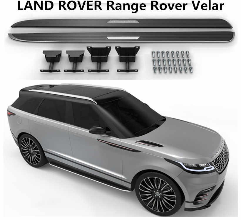 For LAND ROVER Range Rover Velar 2017 2018 2019 Running Boards Side Step Bar Pedals High Quality Nerf Bars Car Accessories
