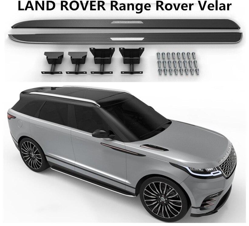 Para LAND ROVER Range Rover Velar 2017 2018 2019 Bar Passo Lado Estribos Nerf Bares Carro Pedais de Alta Qualidade acessórios