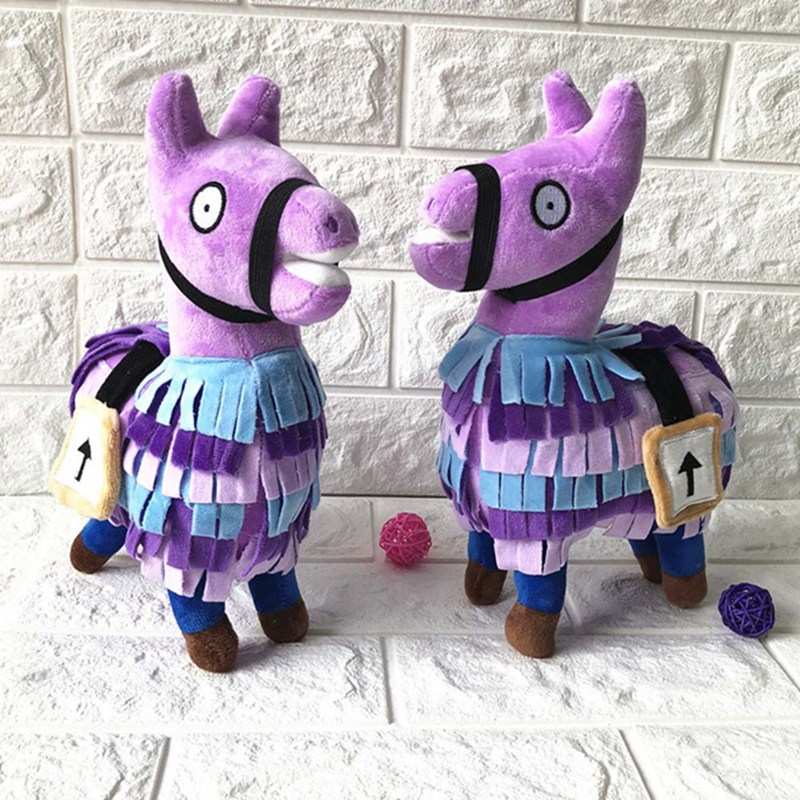 1pcs 2018 Hot Sale 1Pcs 25cm Plush Toy Game Soft Alpaca Rainbow Horse Stash Stuffed Doll Toys For Kids Birthday Gift