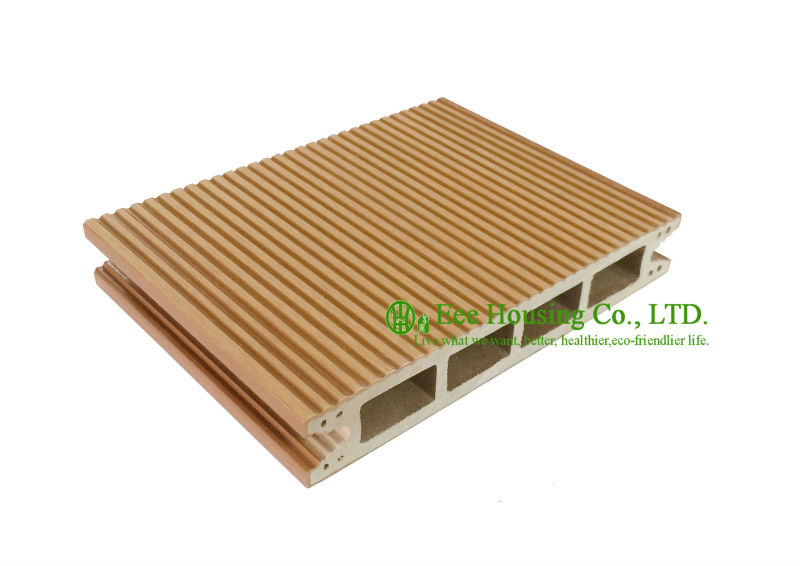 Anti-UV Outdoor WPC Decking For Boardwalk, Easy Installation And Environmental Friendly