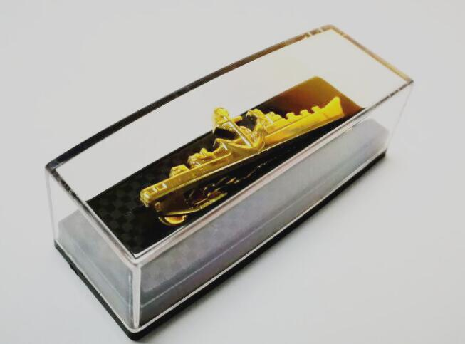 Transparent Plastic Tie Clip Box Gift Box Tie Bars Pins Holder Display Box Storage Carrying Case
