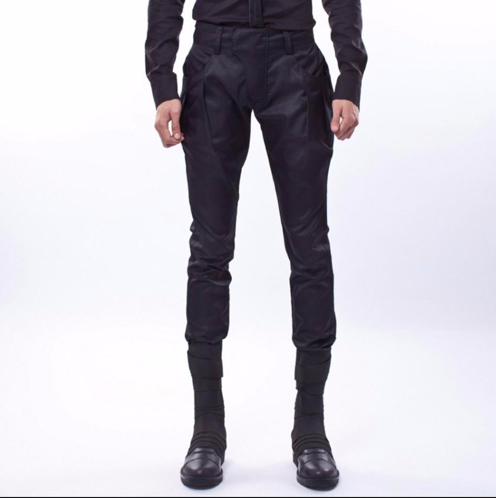NEW boot cut jeans beam pant spring harem pants casual pants tide hairstylist nightclub clothing singer stage costumes