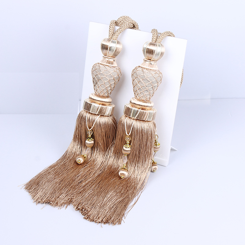 One Pair Luxury Home Decoration Window Curtain Clips Accessories Hanging Belt Ball Strap Window Curtains Tassel Tieback Buckle