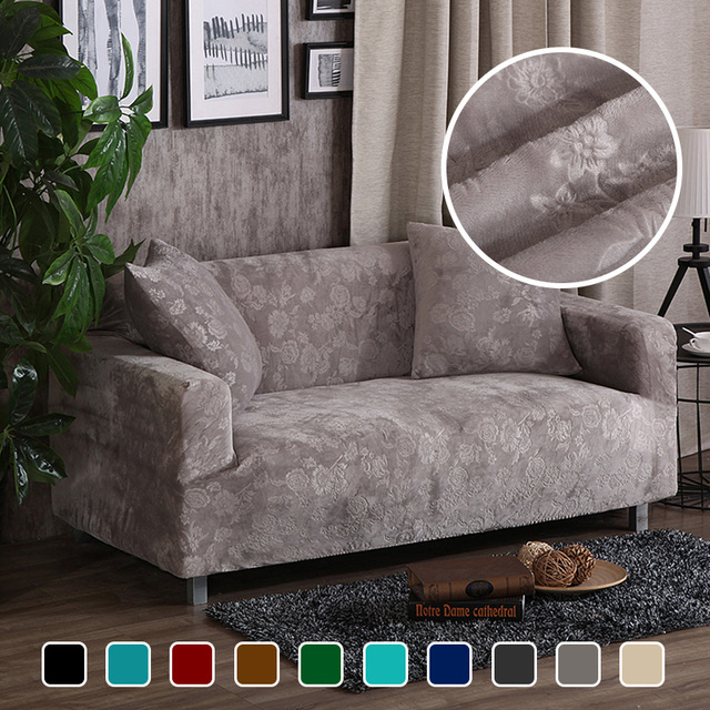 Terrific Us 33 0 50 Off Jacquard Thick Velvet Sofa Covers Universal Stretch Elastic Couch Slipcovers Sectional Sofa Covers Plush Warm 1 2 3 4 Seater In Sofa Interior Design Ideas Inamawefileorg