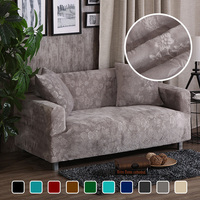Jacquard Thick Velvet Sofa Covers Universal Stretch Elastic Couch Slipcovers Sectional Sofa Covers Plush Warm 1/2/3/4 Seater