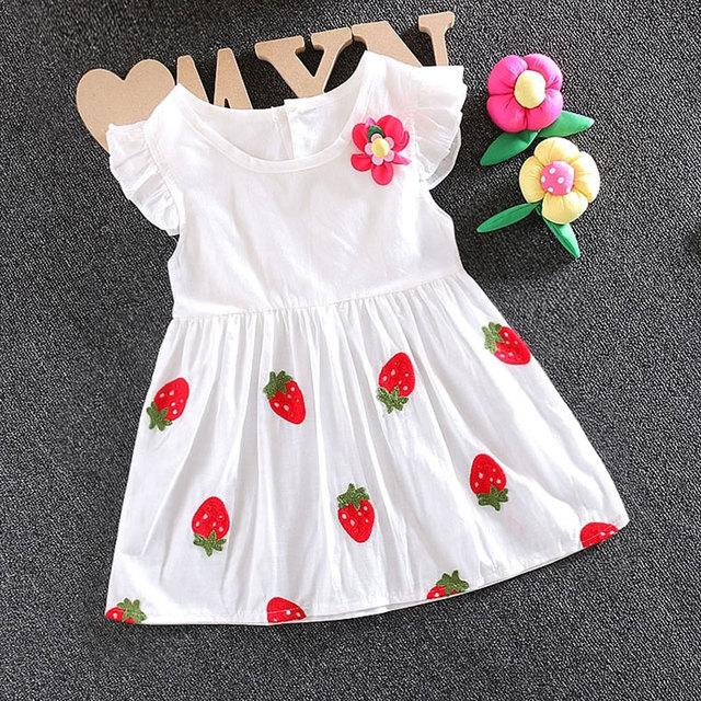 580fcac55c3d6 Infantile Bébé fille vêtements d été marque coton dress pour enfant en bas  âge nouveau