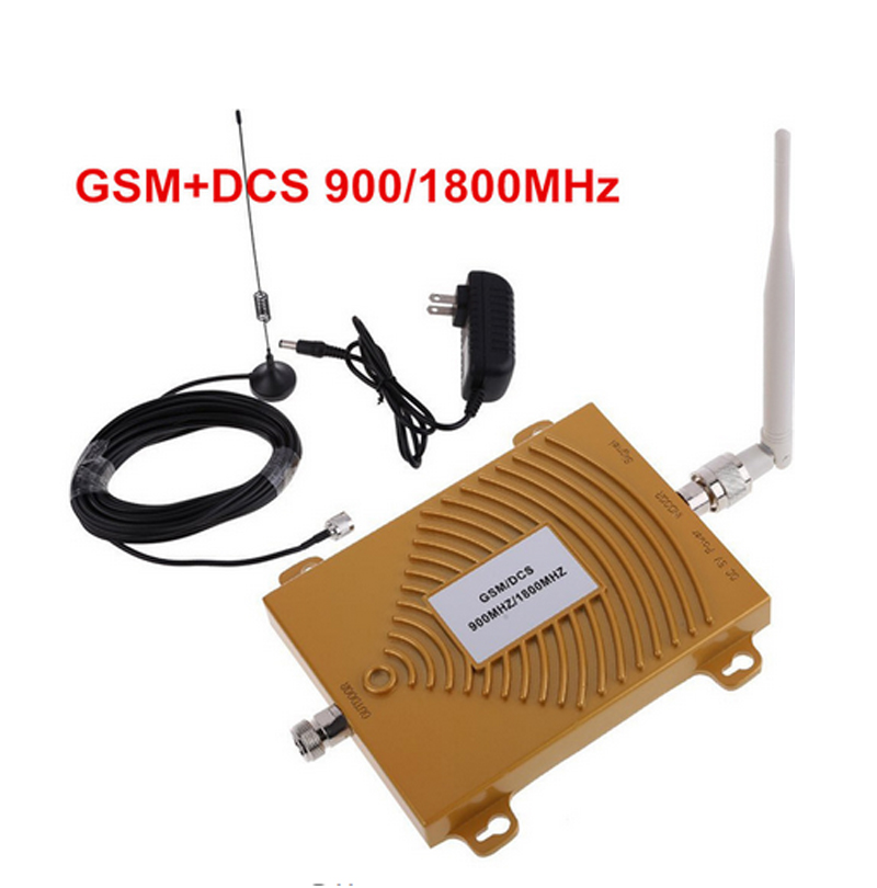 Full Set GSM DCS 900/1800MHz Dual Band Phone Signal Booster Repeater DCS Gsm Signal Amplifier W/ Antenna 4g FDD Band 3 Booster