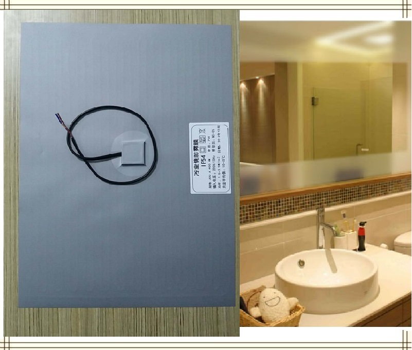 New Bathroom Mirror Shower Protective Film Anti Fog Window Clear Waterproof Makeup Mirror Protective Electronic Heating Film