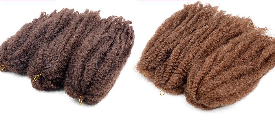 6 Pacote Razeal Afro Kinky Torção Crochet