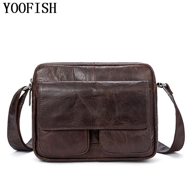 YOOFISH  Genuine Leather Men bag Shoulder Bags Handbags Large Capacity Male messenger bag Briefcases Laptop Crossbody Bags menYOOFISH  Genuine Leather Men bag Shoulder Bags Handbags Large Capacity Male messenger bag Briefcases Laptop Crossbody Bags men