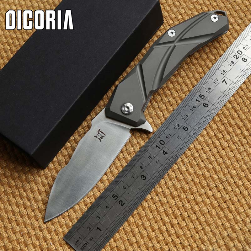DICORIA Sailing Flipper tactical ball bearing folding knife S35VN Blade Titanium handle camping hunting outdoor knives EDC tools high quality zt0392 s35vn blade titanium alloy handle ball bearing system tactical folding knife hunting camping outdoors tool
