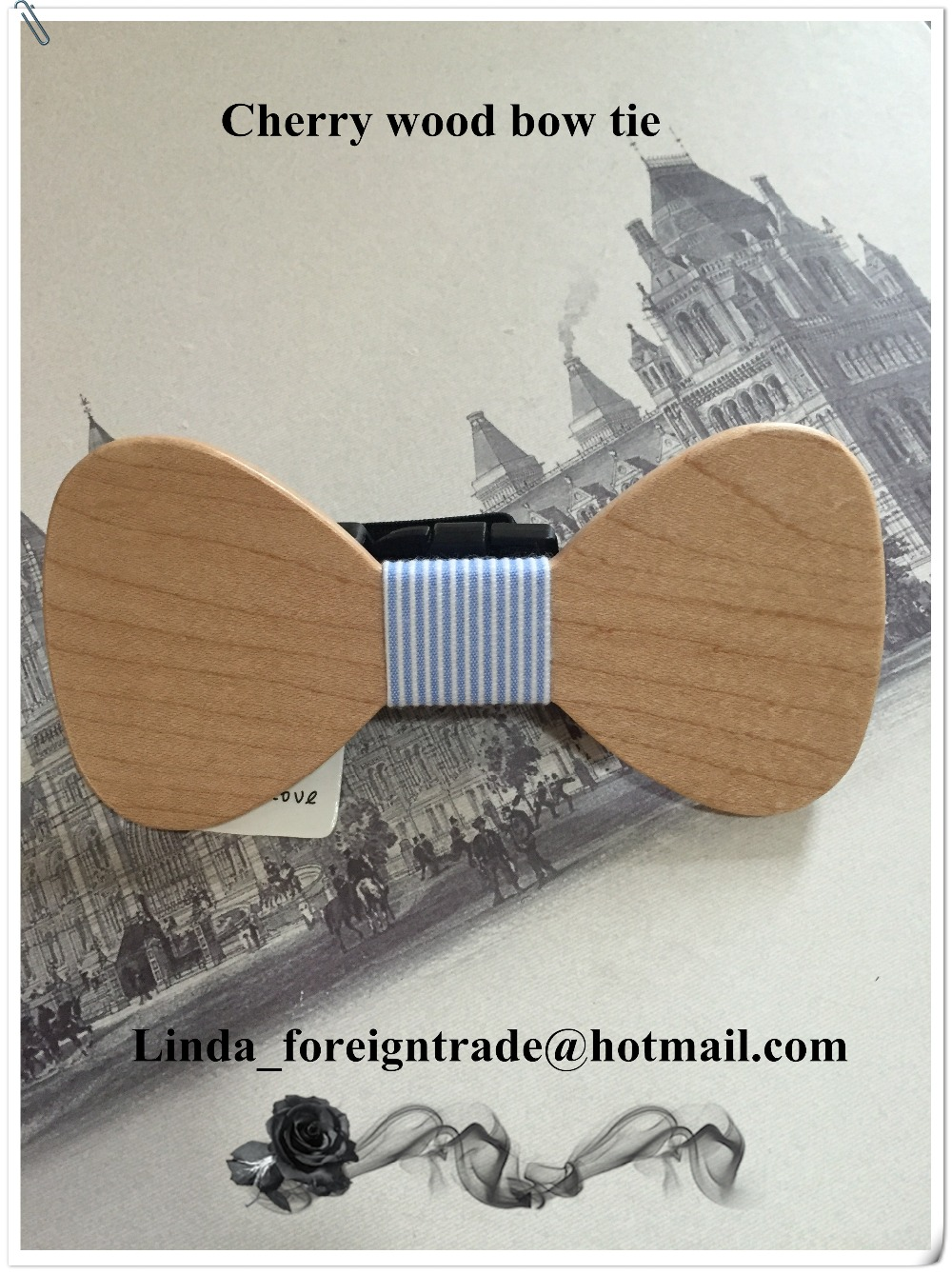 Elegant marriage series hand-carved wooden bow tie men and women can be used. Fashion bow tie Christmas gifts
