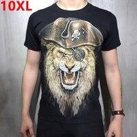 큰 남성 여름 남성 추가 비료 XL 짧은 소매 티셔츠 XL 플러스 사이즈 반 소매 큰