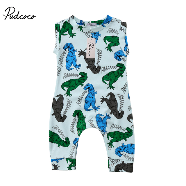 0a4954f5745f Cute Dinosaur Printed Baby Romper Newborn Kid Baby Boys Clothes Vest Tops  Jumpsuit Romper Summer Baby suit Sunsuit Outfits