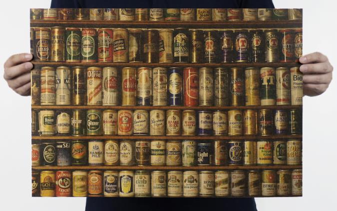Daqo рисунок стикер Декор пивной бар/ресторан/Ностальгический крафт-бумага-mail 51x35. 5 ...