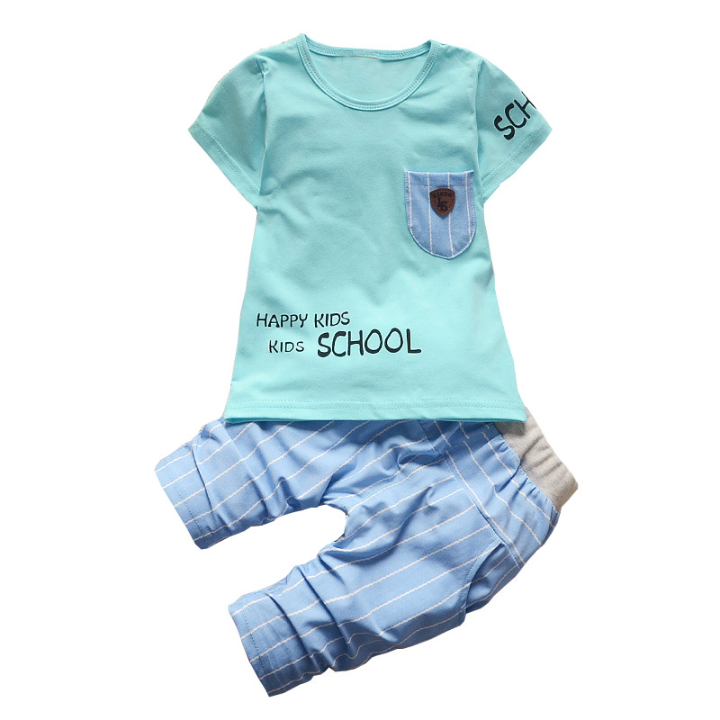 BibiCola Baby Boy Clothing Set Summer Bebe Tracksuit Clothes Toddler Sport Top T-shirt+Pants Outfits Infant Boys Clothing