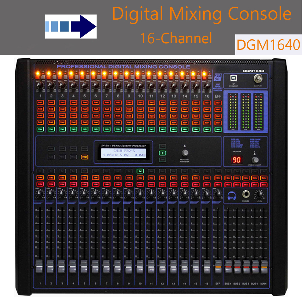 digital mixer audio dgm1640 16 channel audio mixer profissional built in 100 kind dsp effect 19. Black Bedroom Furniture Sets. Home Design Ideas