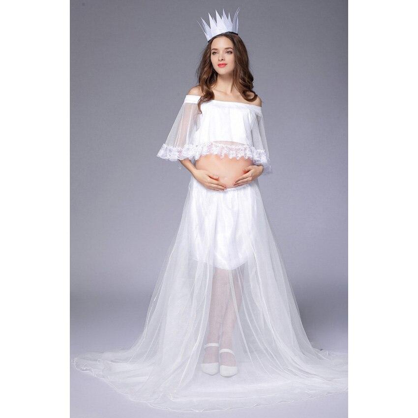 Maternity Dress Elegant Photography Props Wedding Dress Ball Gown Women Pregnant Clothes Photo Lace Maternity Dresses Pregnant