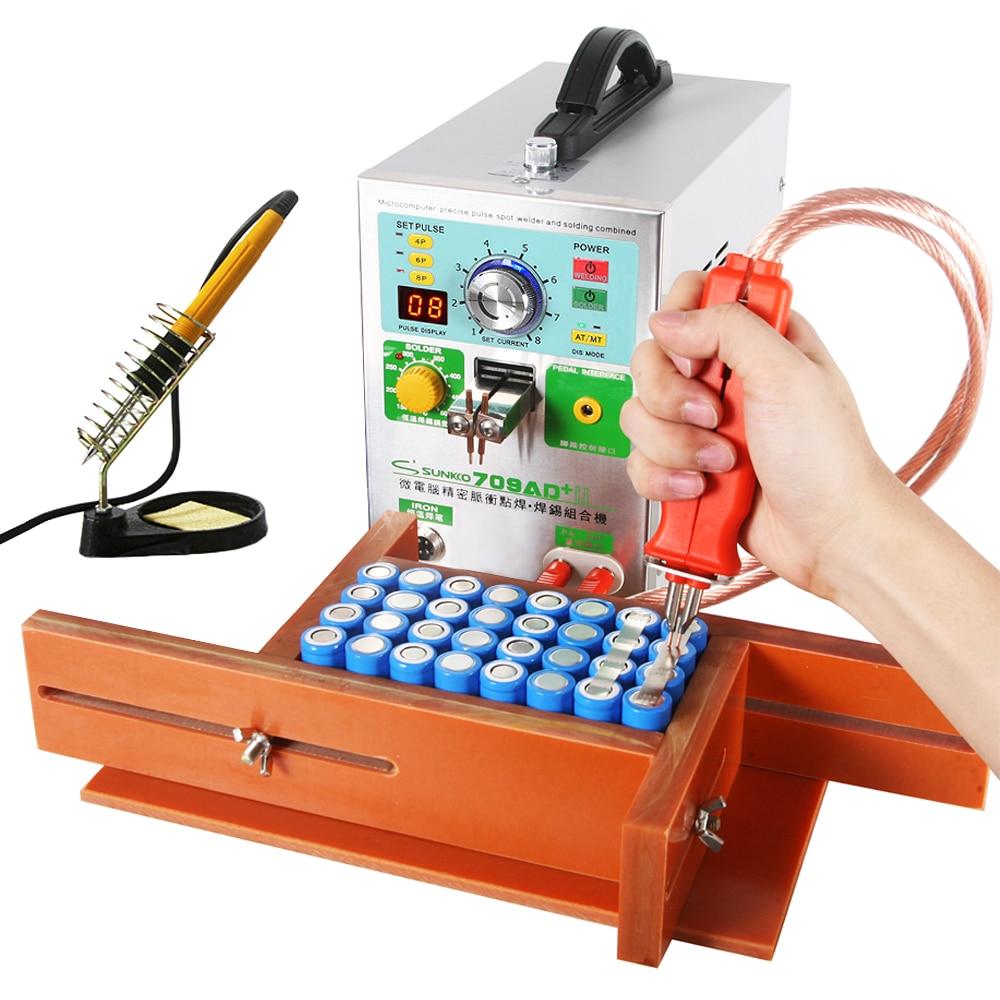 SUNKKO 709AD + Spot Soudeur 3.2KW Automatique Pulse Soudage Machine À Souder À Température Constante Fer Stylo Pour La Batterie Au Lithium