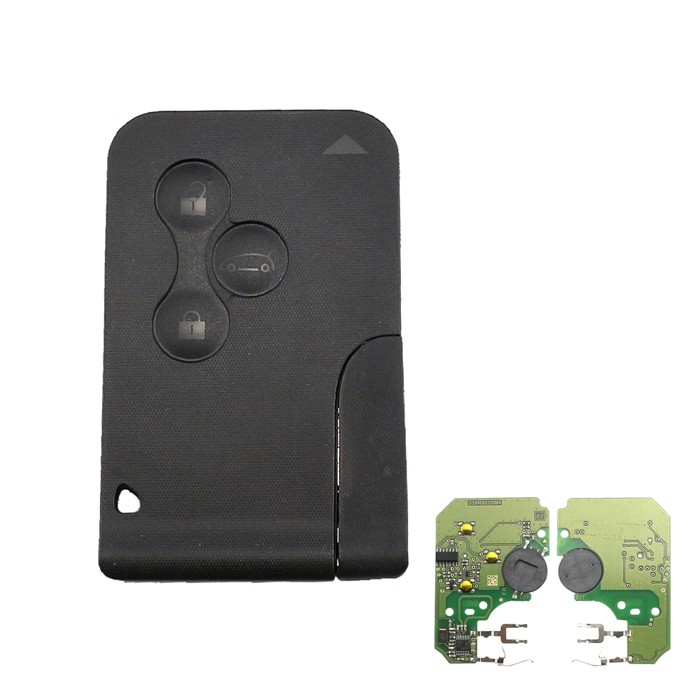 Bross BDP555 3-Button Remote SMART Card Key Housing Case Cover For Renault Scenic 2 3