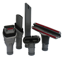 5pc/Set Black Plastic Home Cleaning Brush Tool Attachment Ki