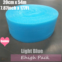 0.2*54m Light Blue Heart shape Air Bubble Roll Party Favors And Gifts Packing Foam Roll Wedding Decoration Emballage Bulle Warp