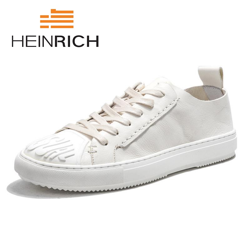 HEINRICH New Arrival Spring Summer Comfortable Casual Shoes Mens Lace-Up Canvas Shoes Brand Fashion Flat Loafers Shoes Schuhe reetene new arrival spring summer comfortable casual shoes mens canvas shoes for men lace up brand fashion flat loafers shoe page 8