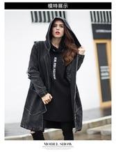 В 2016 году удобрений плюс размер женщин в новый зимний хлопка мягкой длинную одежду хлопка-ватник промывали джинсовая куртка
