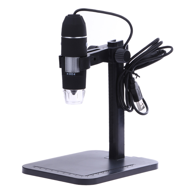 USB Microscopio Digitale 1000X800X8 LED 2MP Microscopio Elettronico Endoscopio Zoom Della Macchina Fotografica Lente di Ingrandimento + Supporto di Sollevamento Dropshipping