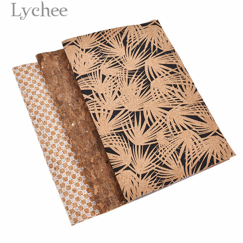 Lychee Life A4 Vintage Soft Cork Fabric Retro Style Sewing Fabric DIY Handmade Bag Materials Supplies