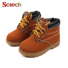 Winter Autumn Children's Snow Boots Fashion Warm Leather Boys Girls Kids Martin Boots Shoes Waterproof Ankle Boot Shoe XSKD20