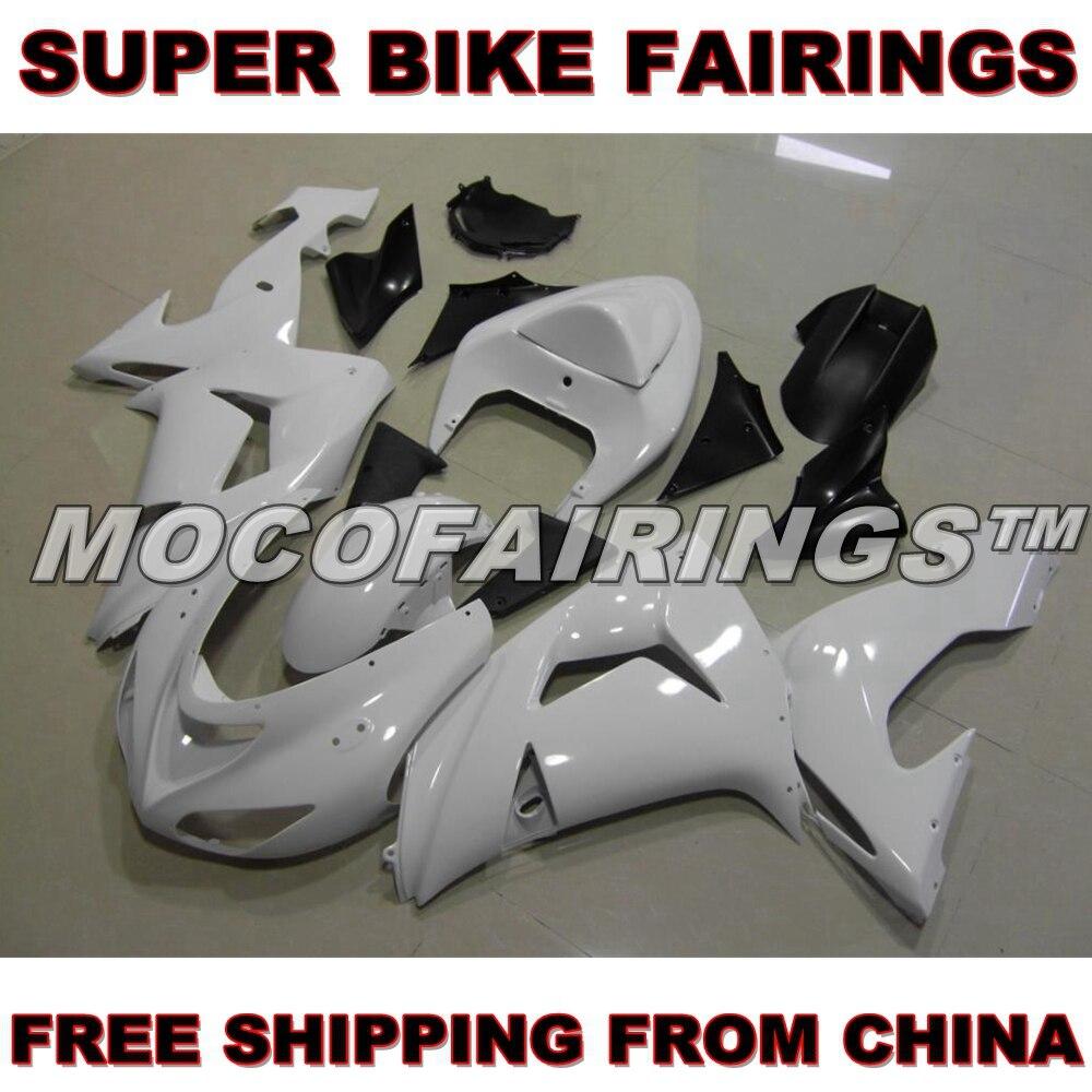 Motorcycle Unpainted ABS Injection Mold Fairing Kit For Kawasaki ZX-10R ZX10R 2006 2007 06 07 Fairings Kits Bodywork Nose Pieces nadia guidi бикини